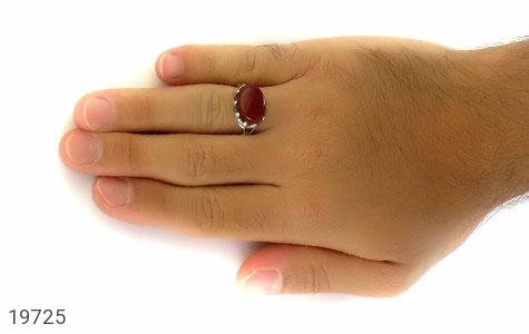انگشتر عقیق سرخ صفوی طرح بهرنگ مردانه - عکس 7