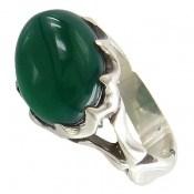 انگشتر عقیق سبز صفوی طرح بهرنگ مردانه