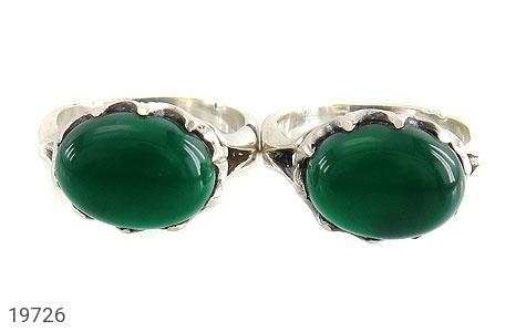 انگشتر عقیق سبز صفوی طرح بهرنگ مردانه - تصویر 2