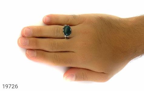 انگشتر عقیق سبز صفوی طرح بهرنگ مردانه - عکس 7