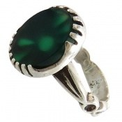 انگشتر عقیق سبز طرح یاسین مردانه
