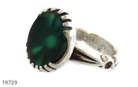 انگشتر عقیق سبز طرح یاسین مردانه - عکس 1