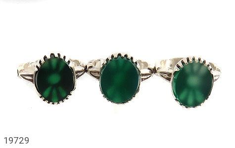 انگشتر عقیق سبز طرح یاسین مردانه - تصویر 2