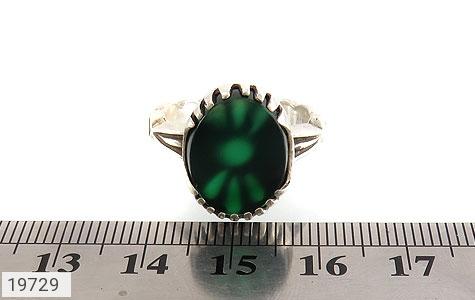 انگشتر عقیق سبز طرح یاسین مردانه - تصویر 6