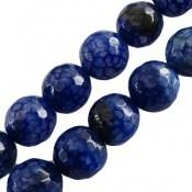 تسبیح عقیق آبی طرح لانه زنبوری و زیبا 33 دانه