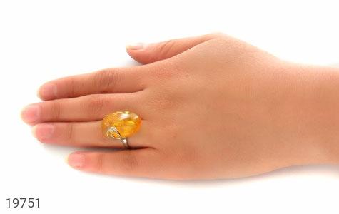 انگشتر کهربا حشره ای بولونی لهستان شفاف درشت زنانه - عکس 7