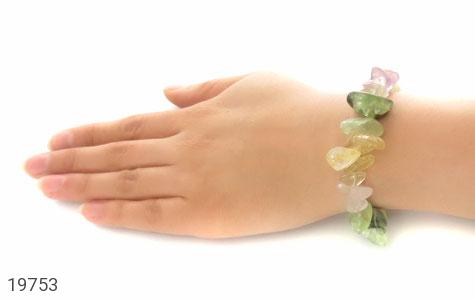 دستبند آمتیست و جید و کوارتز تراش طبیعی سنگ درمانی زنانه - عکس 5