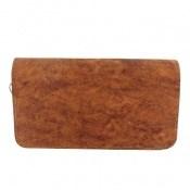 کیف چرم طبیعی قهوه ای ابروبادی دستی طرح کلاسیک