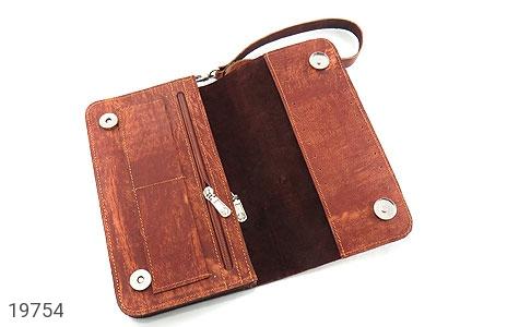 کیف چرم طبیعی قهوه ای ابروبادی دستی طرح کلاسیک - عکس 3