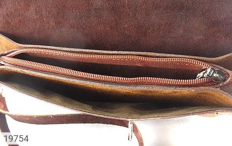 کیف چرم طبیعی قهوه ای ابروبادی دستی طرح کلاسیک - عکس 5