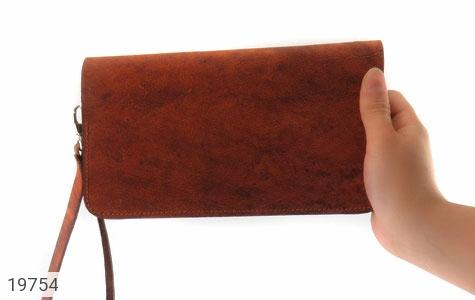 کیف چرم طبیعی قهوه ای ابروبادی دستی طرح کلاسیک - تصویر 8