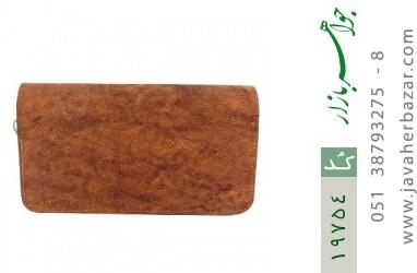 کیف چرم طبیعی قهوه ای ابروبادی دستی طرح کلاسیک - کد 19754