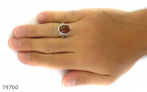 انگشتر عقیق باباقوری خوش رنگ مردانه - عکس 7