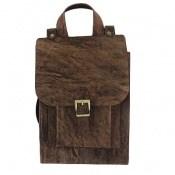 کیف چرم طبیعی خاکی طرح ابروبادی دستی یا دوشی اسپرت