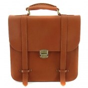 کیف چرم طبیعی عسلی اسپرت دوشی و دستی