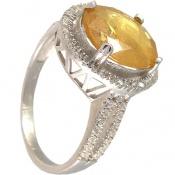 انگشتر یاقوت زرد مرغوب و درشت زنانه