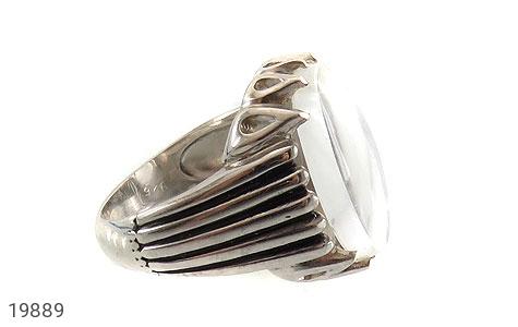 انگشتر دُر نجف زلال درشت و فاخر مردانه - عکس 3