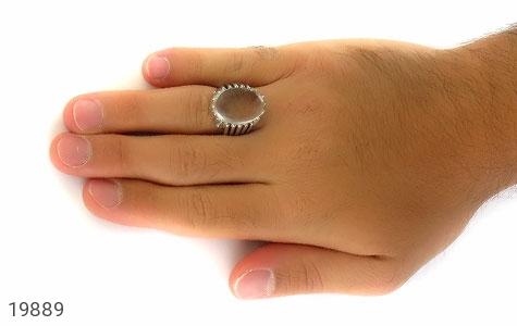 انگشتر دُر نجف زلال درشت و فاخر مردانه - عکس 7