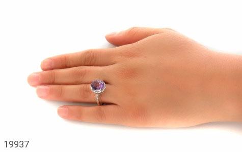 انگشتر آمتیست طرح افروز زنانه - عکس 7