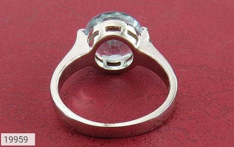 انگشتر توپاز آبی طرح کلاسیک - تصویر 4