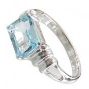 انگشتر توپاز آبی طرح شیدا زنانه