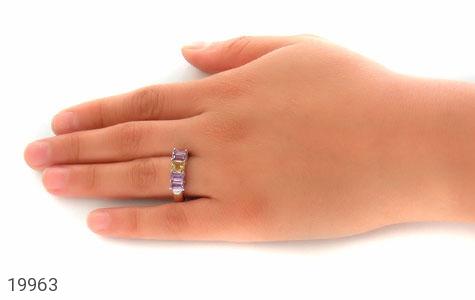 انگشتر آمتیست و سیترین طرح رینگی فاخر زنانه - عکس 7
