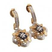 گوشواره یاقوت و الماس مانی فاخر و ارزشمند زنانه