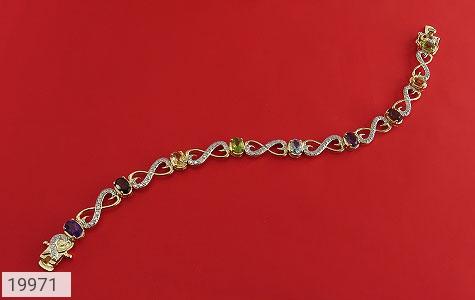 دستبند چندنگین الماس دار مانی طرح اشرافی زنانه - عکس 1