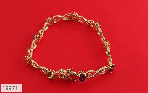 دستبند چندنگین الماس دار مانی طرح اشرافی زنانه - تصویر 2