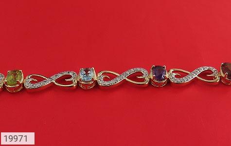دستبند چندنگین الماس دار مانی طرح اشرافی زنانه - عکس 3