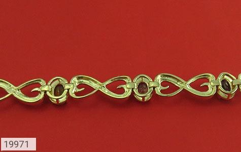 دستبند چندنگین الماس دار مانی طرح اشرافی زنانه - تصویر 4