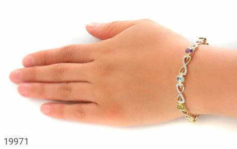 دستبند چندنگین الماس دار مانی طرح اشرافی زنانه - عکس 7
