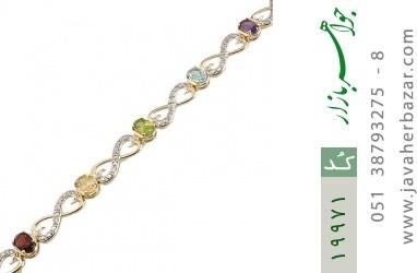 دستبند چندنگین الماس دار مانی طرح اشرافی زنانه - کد 19971
