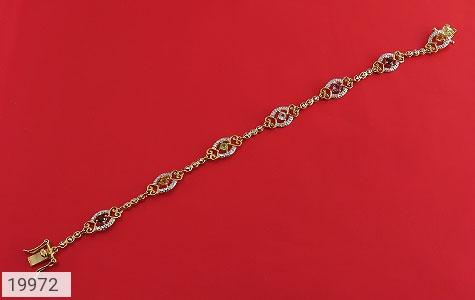 دستبند چندنگین الماس دار مانی طرح سلطنتی زنانه - عکس 1