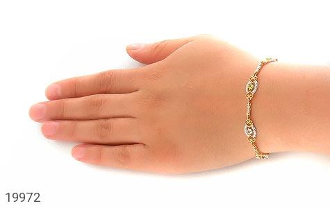 دستبند چندنگین الماس دار مانی طرح سلطنتی زنانه - عکس 7