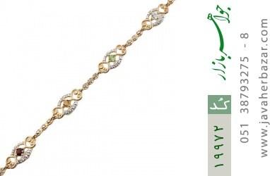 دستبند چندنگین الماس دار مانی طرح سلطنتی زنانه - کد 19972