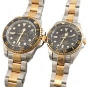 ساعت رولکس Rolex مجلسی دو رنگ زه قاب چرخشی