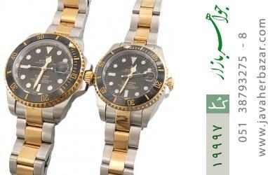 ساعت رولکس Rolex مجلسی دو رنگ زه قاب چرخشی - کد 19997