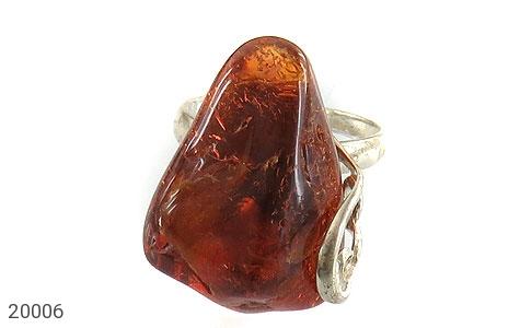 انگشتر کهربا حشره ای بولونی لهستان شکلاتی زنانه - تصویر 2