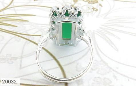 انگشتر عقیق سبز طرح ملیله زنانه - تصویر 4