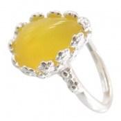 انگشتر عقیق زرد اشکی طرح ملیله زنانه