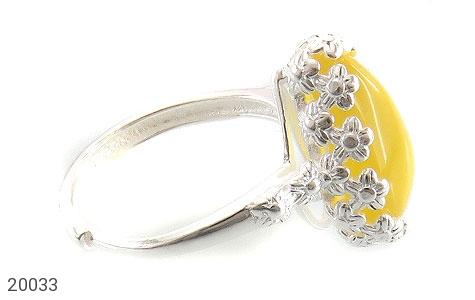 انگشتر عقیق زرد اشکی طرح ملیله زنانه - عکس 3