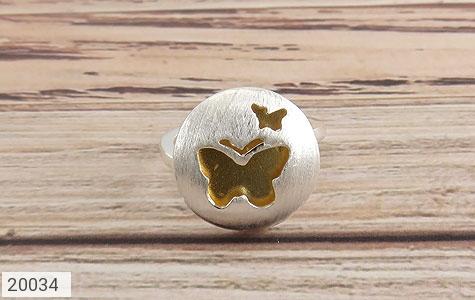 انگشتر نقره زیبا طرح پروانه زنانه - تصویر 2