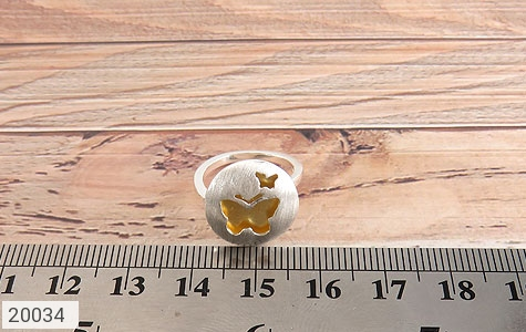 انگشتر نقره زیبا طرح پروانه زنانه - تصویر 6