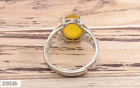 انگشتر عقیق زرد زیبا رکاب فری سایز زنانه - تصویر 4