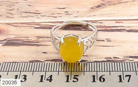انگشتر عقیق زرد زیبا رکاب فری سایز زنانه - تصویر 6