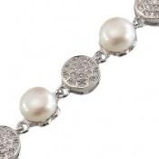 دستبند مروارید لوکس طرح عروس زنانه