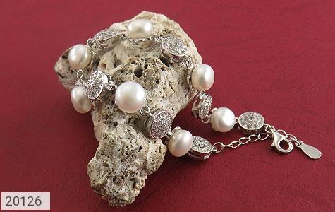دستبند مروارید لوکس طرح عروس زنانه - تصویر 4