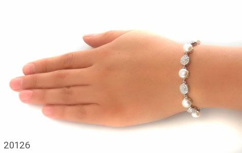 دستبند مروارید لوکس طرح عروس زنانه - تصویر 6