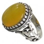 انگشتر عقیق زرد شرف الشمس طرح مهدیار مردانه